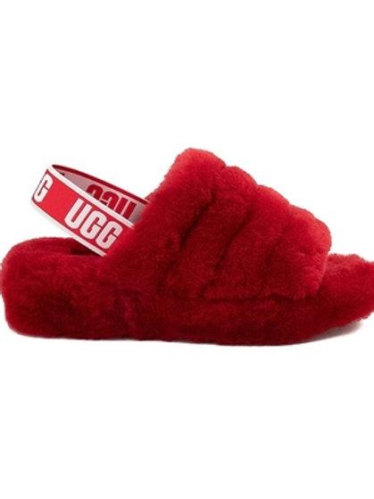 UGG Fluff  Yeah Slides (Red)