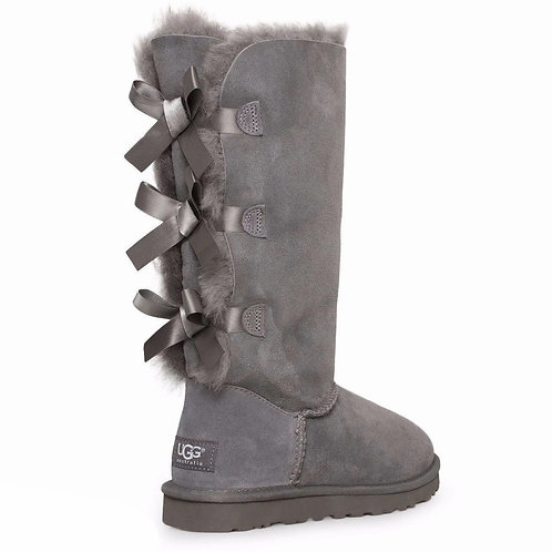 UGG Tall [3 Bow] Grey