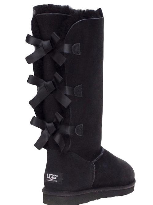 UGG Tall [3 Bow] Black