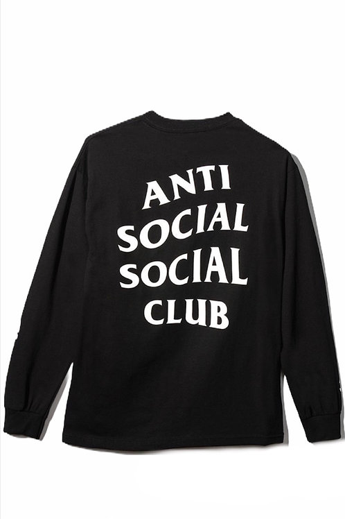 Anti Social Long Sleeve Black