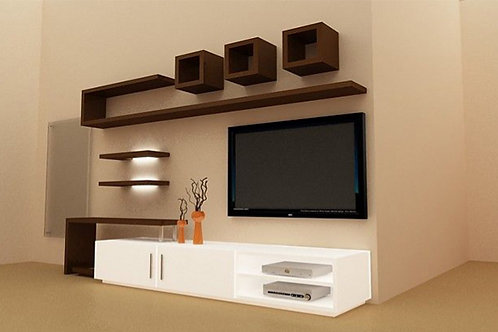 TV panelling with storage unit