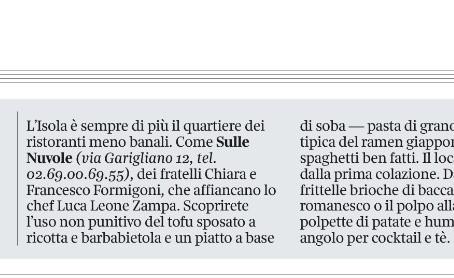 Orgoglio al quadrato: Corriere della Sera,       Roberta Schira