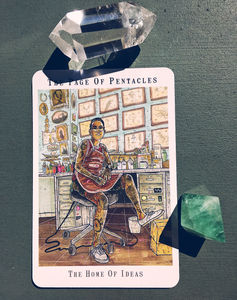 Comrade Femme Tarot: The Page of Pentacles
