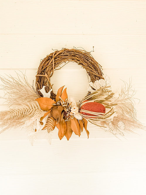 The Pink Banksia Wreath