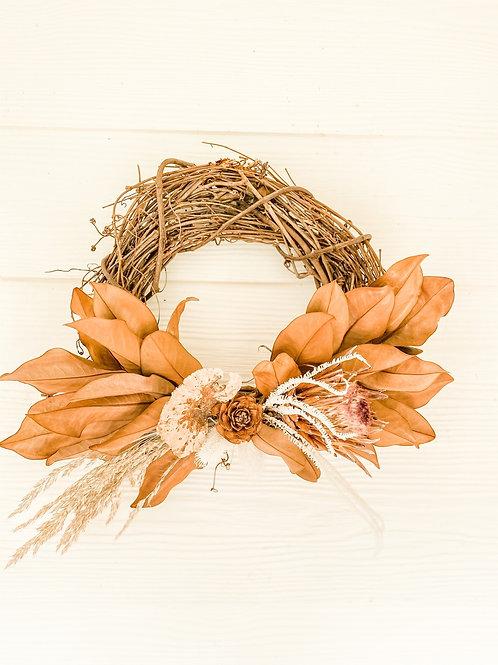 The Protea & Mushroom Wreath