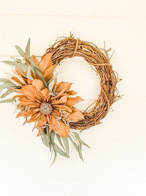 The Protea & Eucalyptus Wreath