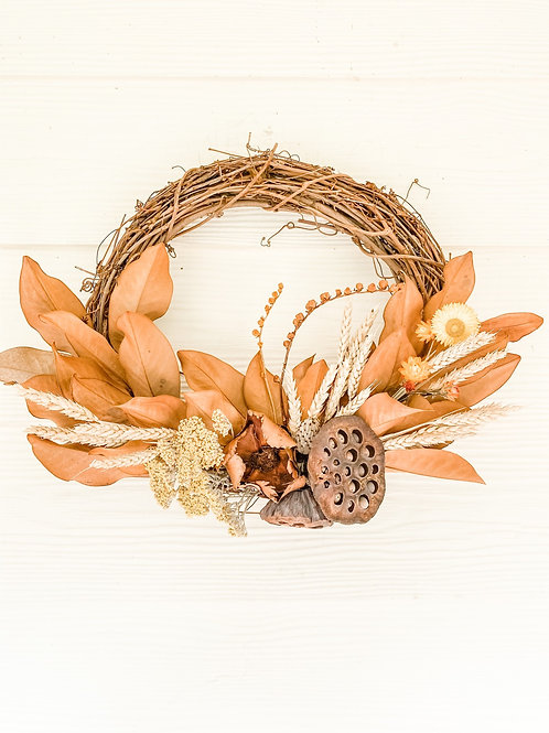 The Lotus Pod and Rye Wreath