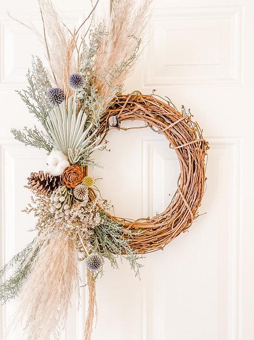 Christmas Blues Wreath
