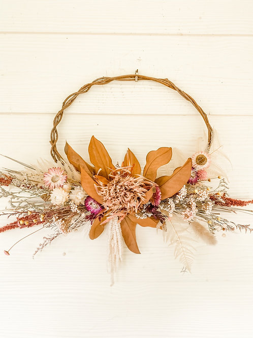 The Protea & Strawflower Wreath
