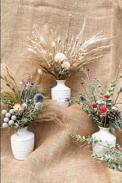 Holiday Bitty Bud Vase Arrangement
