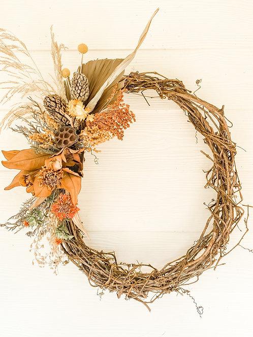The Broom Corn Fall Wreath