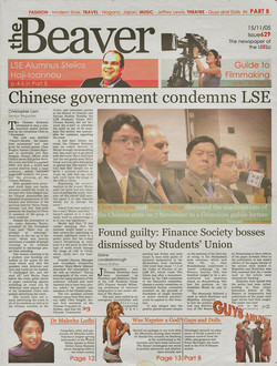 Article from the Beaver reporting on a controversial Grimshaw event with China-sceptics.