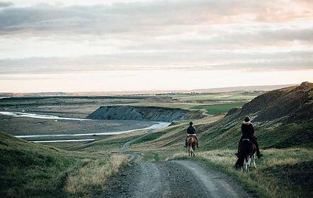Horseback in stunning landscape