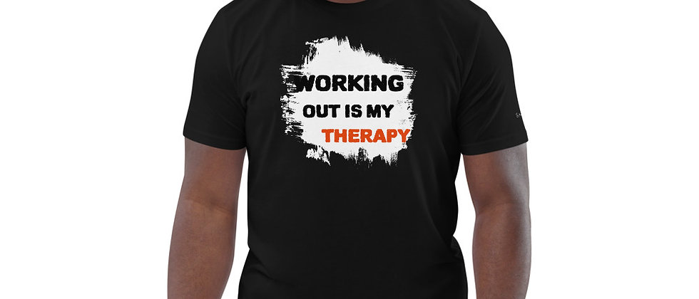 Mens Black | Working out Therapy T-Shirt