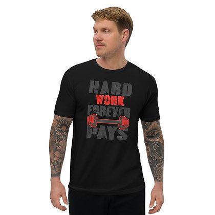Mens Black | Hard work premium T-Shirt