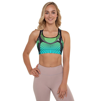Coral Reef Precision Padded Sports Bra.