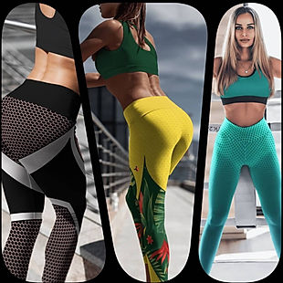 shapeit gym & street wear leggings, jungle fever, vector pink and turquoise