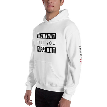 White Shapeit Hoodie | Work Out Till You Pass Out