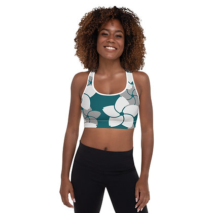 Fleurs D'Hélices precision padded sports bra for extra comfort.