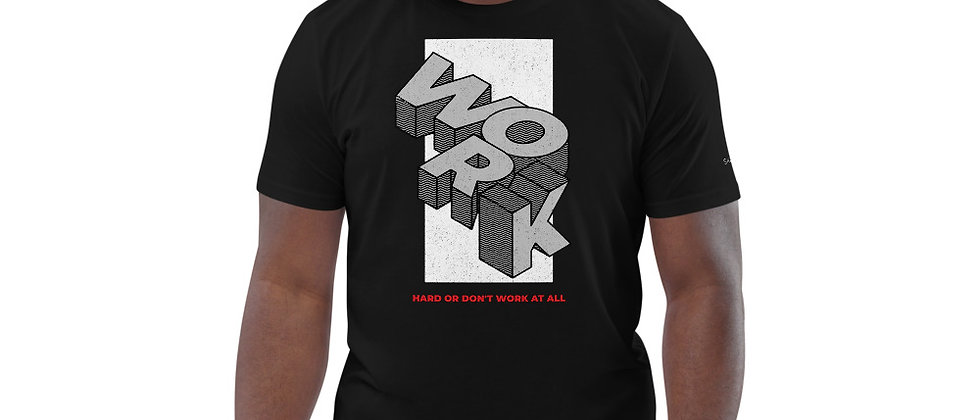 Mens Black | Work Hard premium T-Shirt