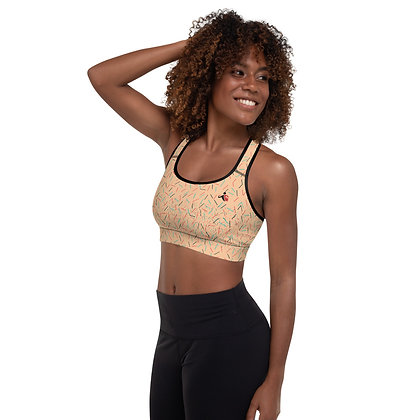 Nude Confetti Explosion precision padded sports bra for extra comfort.