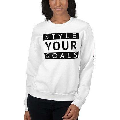 White Style Your Goals Sweatshirt