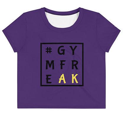 Purple Gym Freak Crop Top Tee