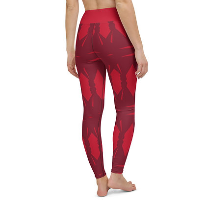 Passionately Red exercise leggings.