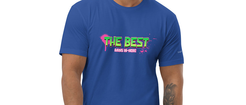 Mens Blue   The Best Gains T-Shirt