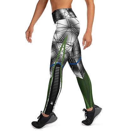 Green Asteroid Rain exercise leggings. #FITGIRL