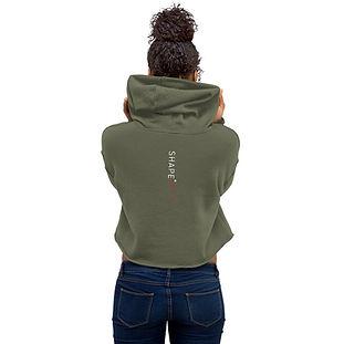 green shapeit gym & street wear crop top