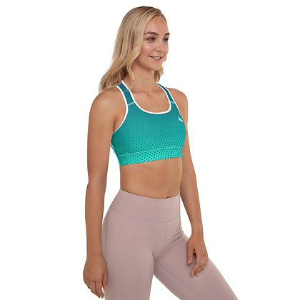 Turquoise Padded Sports Bra