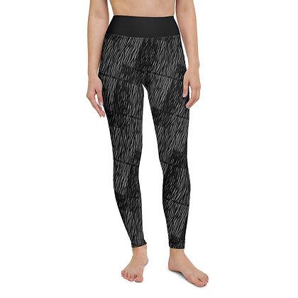 Brushed Grey exercise leggings.