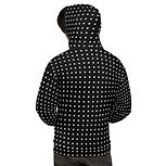 shapeit gym & street wear black dalmations hoodie.