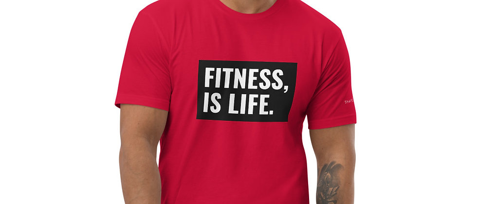 Mens Red | Fitness Is Life T-Shirt