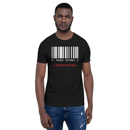 Mens Black | Barcode, limited edition premium T-Shirt