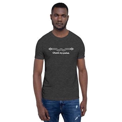 Mens Dark Heather Grey | Check my pulse premium T-Shirt