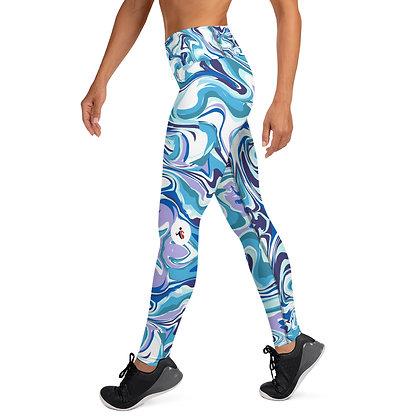 Blue Hydro Dip exercise leggings. #FITGIRL