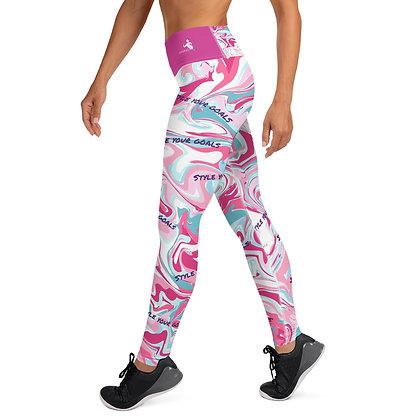 Pink Hydro Dip exercise leggings. #FITGIRL