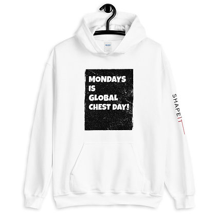 White Shapeit Hoodie | Global Chest Day