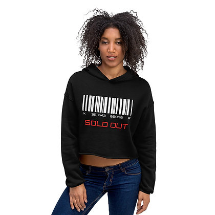 Women's Black Cropped Hoodie | Barcode Sold Out