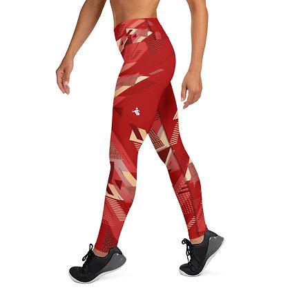 Retro Red exercise leggings. #FITGIRL