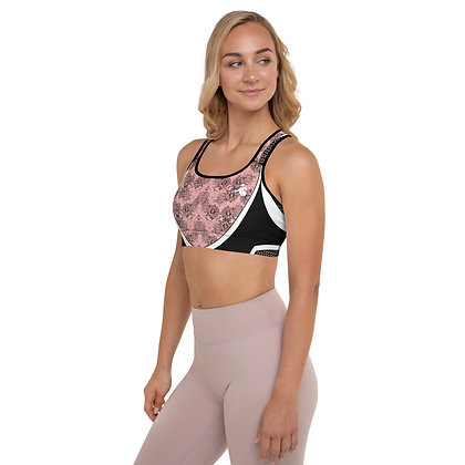 Vector Pink Padded Sports Bra.