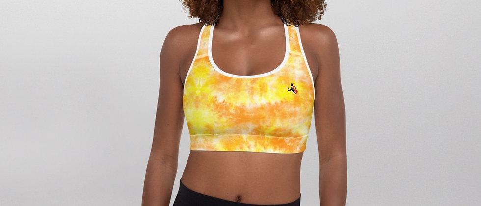 Sun Kiss Yellow Padded Sports Bra.