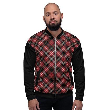Men's Checkered Bomber Jacket