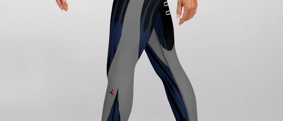 Biker Chick Blue exercise leggings. #FITGIRL