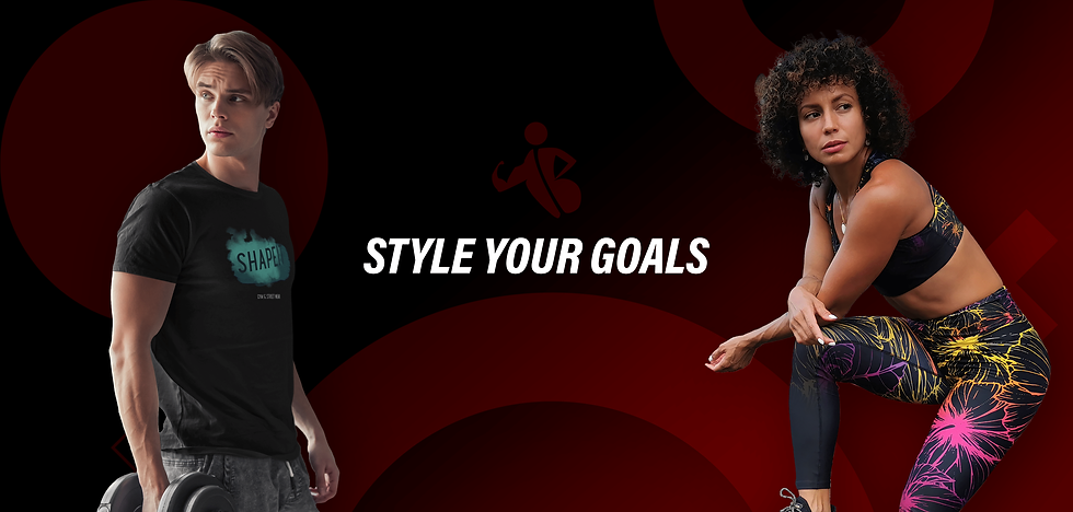 shapeit gym and street wear website banner