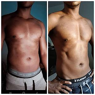 Julien Nassibou Transformation photo avant après entraîner par Ingrid DIJOUX coach sportif La Réunion