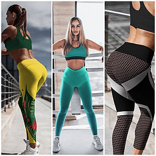 women wearing shapeit gym and street wear leggings, jungle fever, vector pink