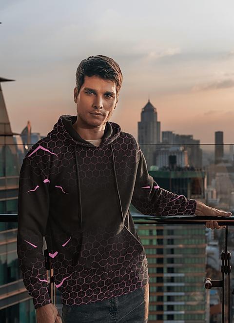 man wearing shapeit gym & street wear spiders web jacket